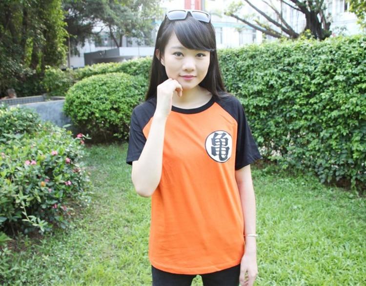 New Anime Dragonball Z Son Goku Cosplay Summer Short Sleeve T-shirt 100% Cotton Tops Tee Shirts Halloween Costume M-XXL