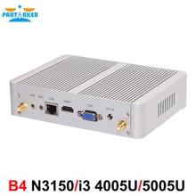 Partaker 14nm b4 intel quad core 4005u n3150 dual core i3/5005u procesor htpc mini pc z hdmi vga 4 k hd
