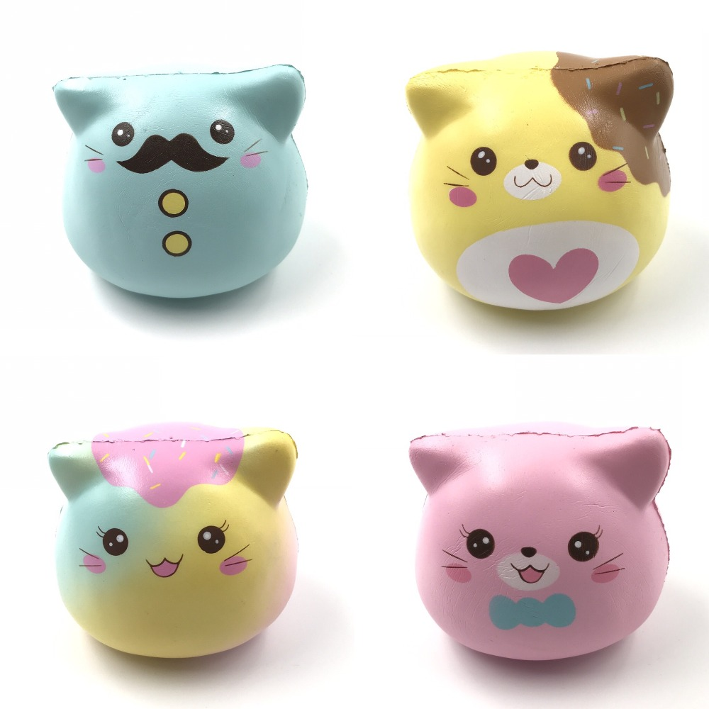 Original Puni maru pisici marshmallow Squishy miros Slow Rising Soft - Produse noi și jucării umoristice