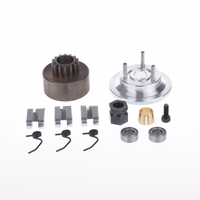 14T Gear Bearing Clutch Shoes Springs Cone Engine Nut Flywheel Assembly For 1 8 RC Car