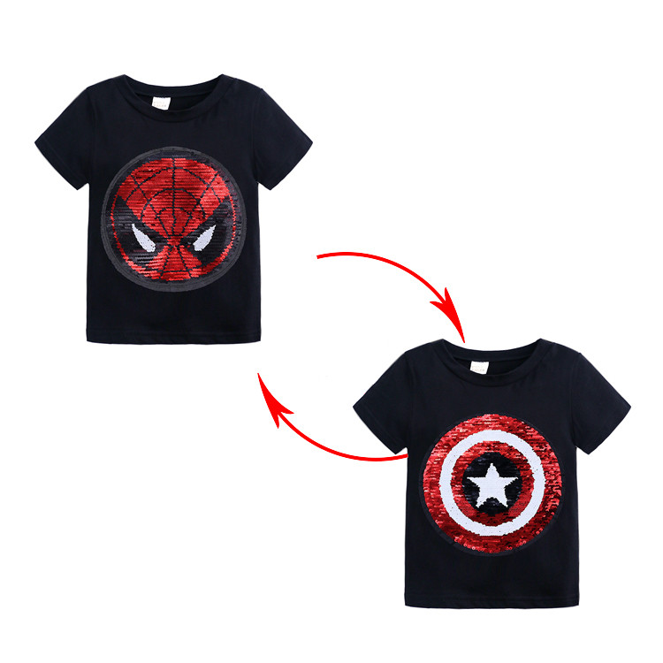 Compass Icon Shirt Comfort Baby Girl Flounced T Shirts Tee Shirts for 2-6T Baby Girls