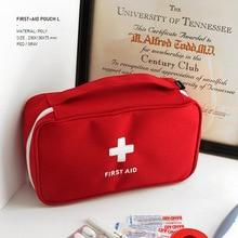 цены Portable first aid kit emergency medical storage bag outdoor survival handbag medicine travel bag household pill box empty bag