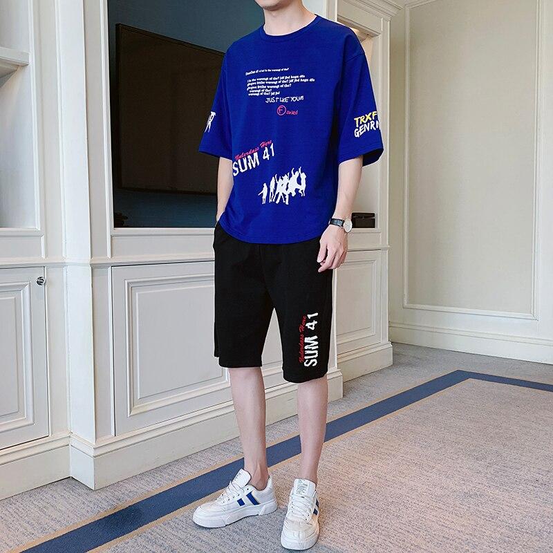 Mannen Korte Mouwen Shirt Mode Gestreepte Shirt Knappe Bijpassende Zomer Casual Shirts Pak