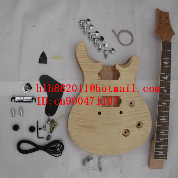 FREE SHIPPING UNFINISHED ELECTRIC GUITAR in natural color without paint made in China