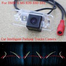 Автомобиль Интеллектуальные Парковка Треки Камеры ДЛЯ BMW 5 E39 E60 E61 M5/резервное копирование Камера Заднего Вида/Камера Заднего вида/HD CCD