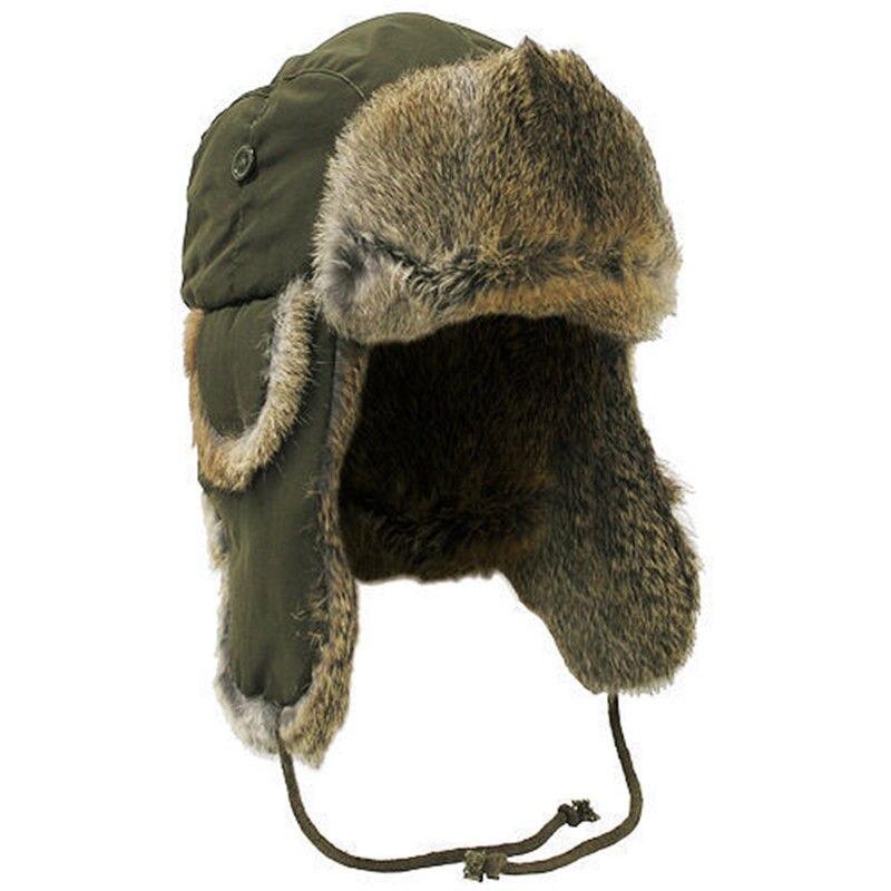 e5e83db7b5c Dropwow Unisex faux fur Ear Flaps Hat Cap Winter Ski Cap ear flaps ...