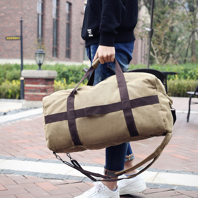 2019 Male Travel Bag Large Capacity Men Hand Luggage Travel Duffle Bags Canvas Weekend Bags Multifunctional Travel Bags