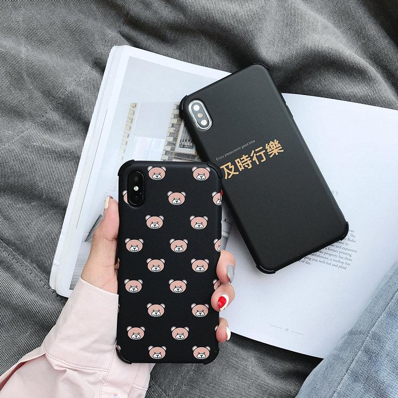 Japan Cute Cartoon Mickey Bear Sailor Moon Shockproof Case For Iphone X Xs Max Xr Soft Tpu Black Cover For Iphone 8 7 6 6s Plus Cellphones & Telecommunications Phone Bags & Cases