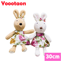 Wear dress Le sucre 30cm kawaii Rabbit plush toys bunny Stuffed dolls kids toys gifts,clothes can be take off