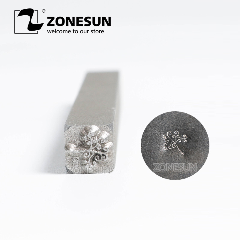 ZONESUN jewelry stamping Steel Metal Stamps Mold Punch Marking Tool Women Men Gold Rings Bracelet Necklace Buckle marking tools