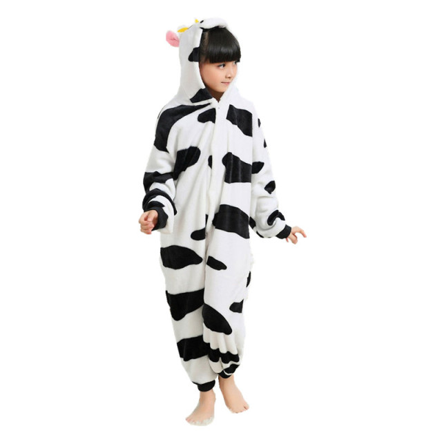 260cd59b3ff7 Cow Onesies for Children Onesie Pajamas Jumpsuit Hoodies Sleepwear For Kids