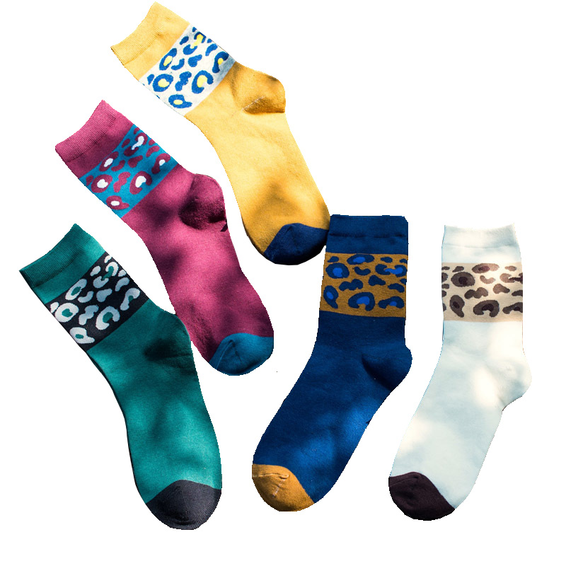 1Pair Men Socks Classic Hit Color Design Casual Cartoon Cotton Socks Funny Happy Socks High Quality Tube Sox Hot Sale