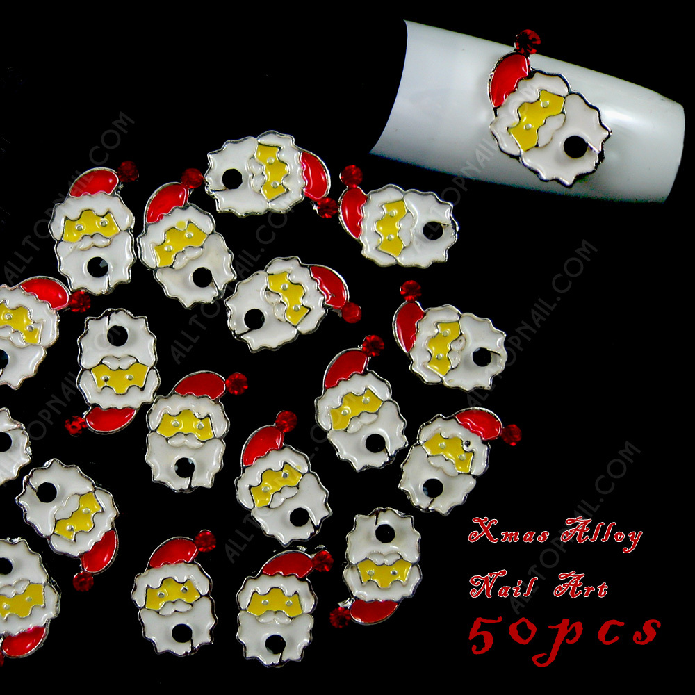 Santa Claus Nail Art: Christmas Santa Claus DIY Nail Art Xmas 3d Alloy