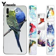 Yinuoda The bird watercolor painting Painted Coque Phone Case for Huawei P9 P10 Plus Mate9 10 Mate10 Lite P20 Pro Honor10 View10(China)
