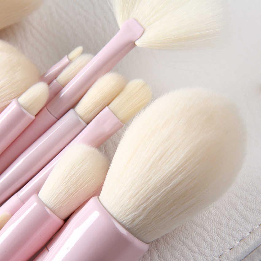 Gradient Pro 14 sztuk zestaw pędzli do makijażu puder do makijażu fundacja pędzel do eyelinera i brwi zestawy narzędzie pędzel do makijażu