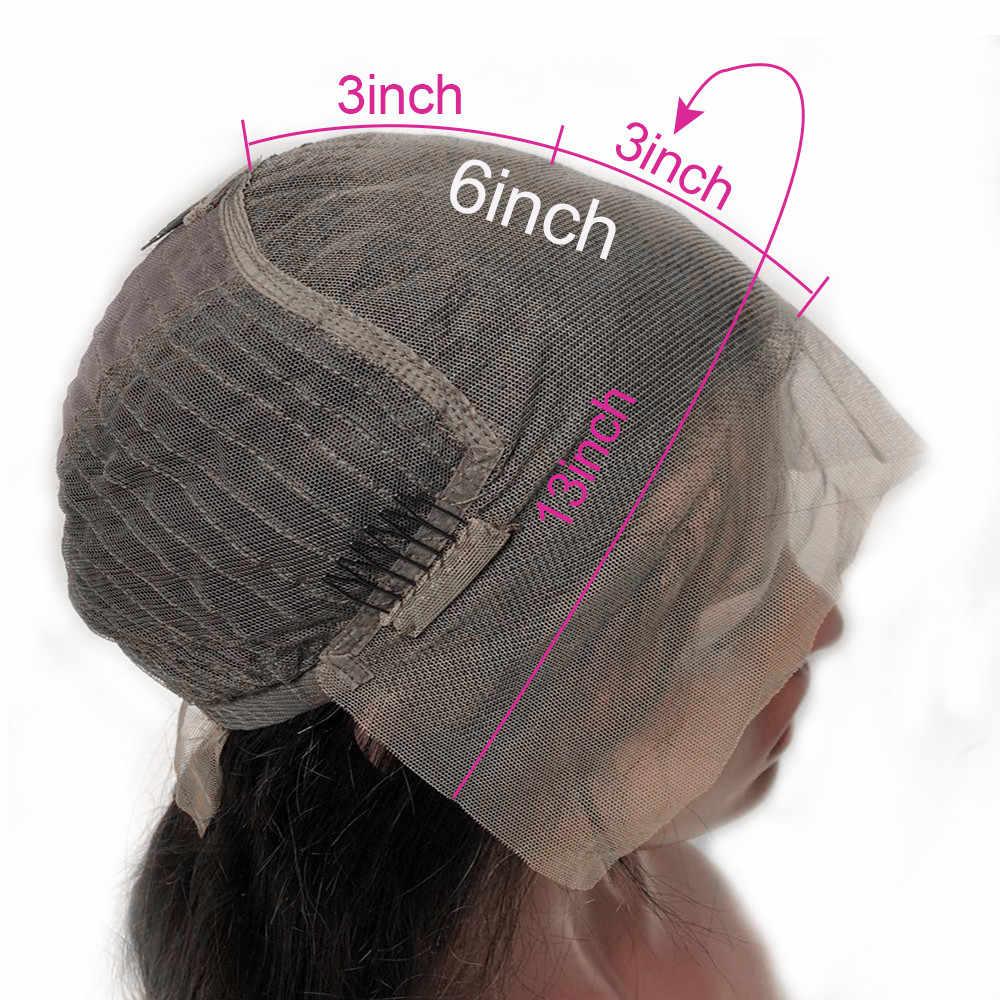 Парики из натуральных волос на кружеве 13x6 перуанские волосы Remy Предварительно сорванные полные