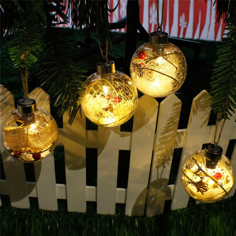 LED Merry Christmas Tree Bulb Light Ball Ornament Xmas Garden Festival Decor Wholesale Free Shipping #CNO16