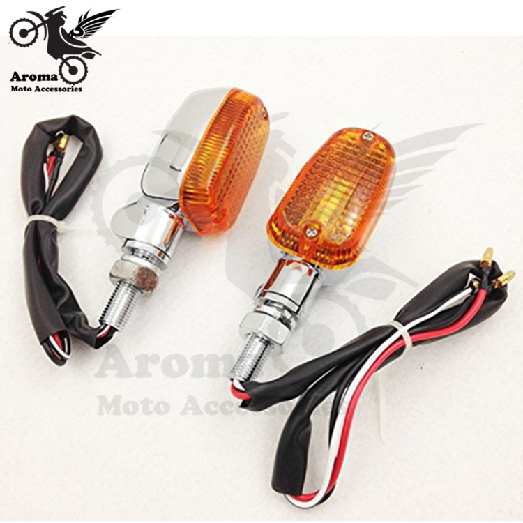 rectangle yellow lighting ATV Off-road scooter flashers chrome moto indicator light for Harley Davidson motorcycle turn signal