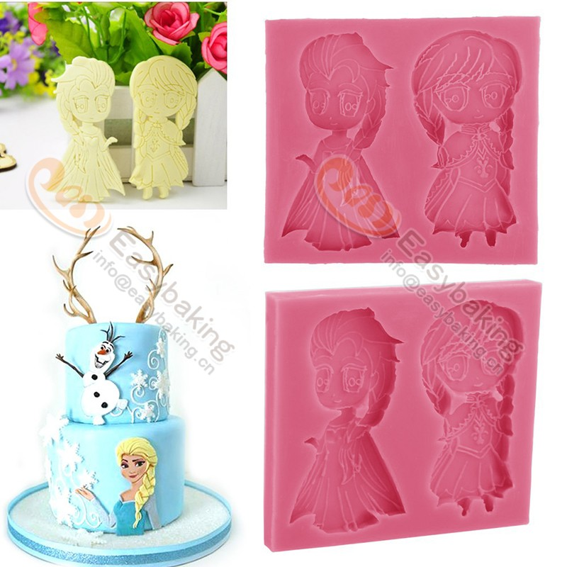 Christmas Cake Decoration Molds : Fondant Silicone Cake Decorating Molds Anna Elsa Christmas ...
