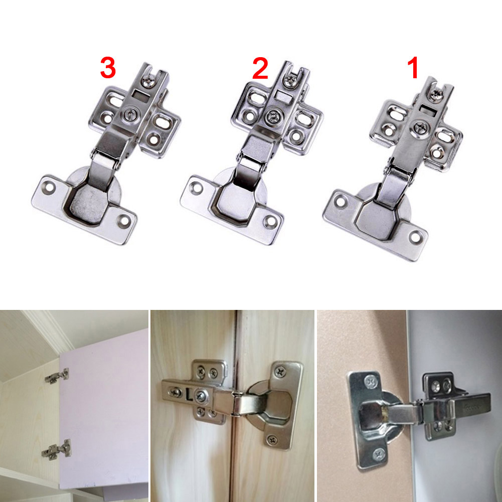 Stainless Steel Door Hinge Universal Kitchen Bedroom Hinge Damper Buffer For Cabinet Cupboard Closet Wardrobe Furniture Hot Sale dsha hot 10x soft close kitchen cabinet door hinge hydraulic slow shut clip on plate