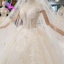 AIJINGYU Wedding Dress Sparkle Gypsy Bridal Sexy Open Back Long Sleeves  Newest Gown Big Size Wedding 22a346c23c4f