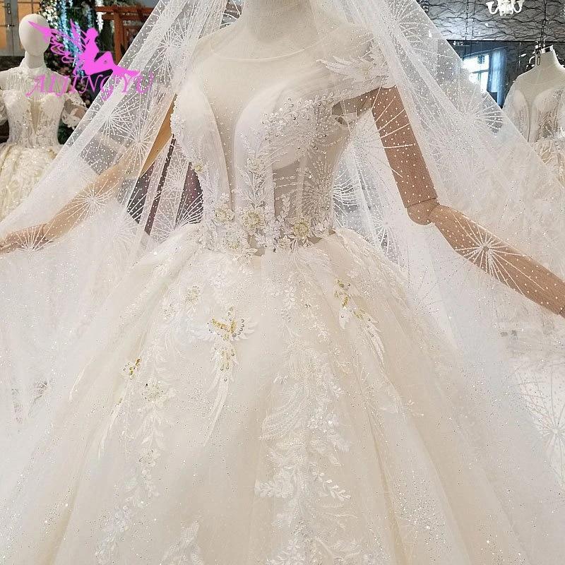 Aijingyu Wedding Dress Sparkle Gypsy Bridal Sexy Open Back Long Sleeves Newest Gown Big Size Wedding Gowns Near Me Wedding Dresses Aliexpress