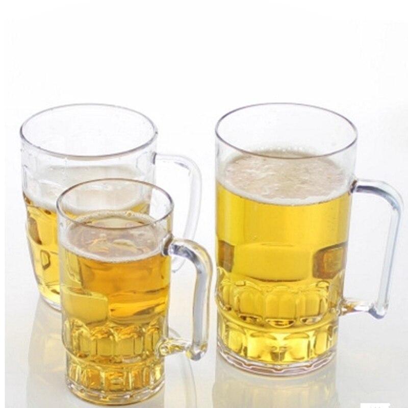 בלתי שביר 3 גדלים KTV גדול כוס הבירה אקריליק פלסטיק כוס בירה משקאות כוסות קפה חלב ארוחת בוקר ספל מים Drinkware Barware