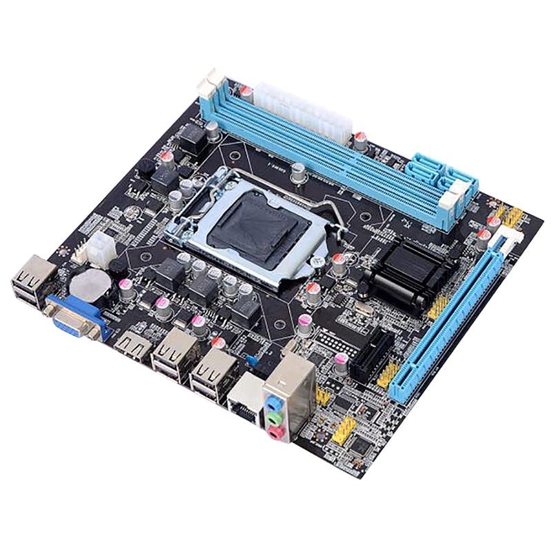 H61 ordinateur de bureau carte mère carte mère 1155 broches CPU Interface mise à niveau USB2.0 DDR3 1600/1333 pour Intel Core i7/i5/i3
