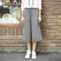 Veri Gude Women Wide Leg Pants Cotton Plaid Trousers Loose Style