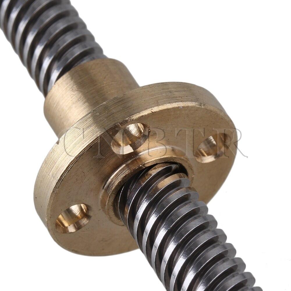Vertical 400mm 8mm Lead Screw Shaft Coupling Bearing Flange Block Set