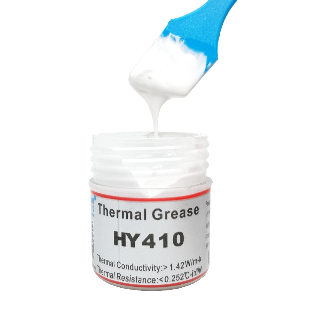HY410 10g Syringe Thermal Grease Gray CPU Chip Heatsink Paste Conductive Compound ABS Cooling Radiator Cooler