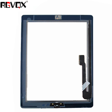 Купить с кэшбэком NEW Touch Screen Digitizer For iPad 3 A1416 A1430 A1403 TP IC with Home Button and Adhesive Front Glass Replacement