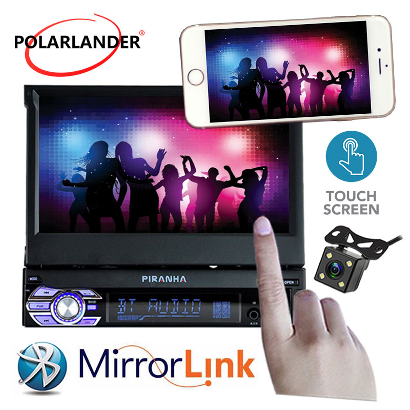 цена на Car Radio player New bluetooth MP5 Audio Stereo FM Built in Bluetooth Phone USB/TF Car Electronics 1 DIN 12V 7 inch Touch Screen