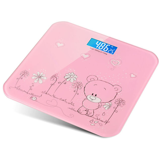 Ultra Thin Digital Lcd Electronic Bathroom Weighing Scale And Tempered Gl Body