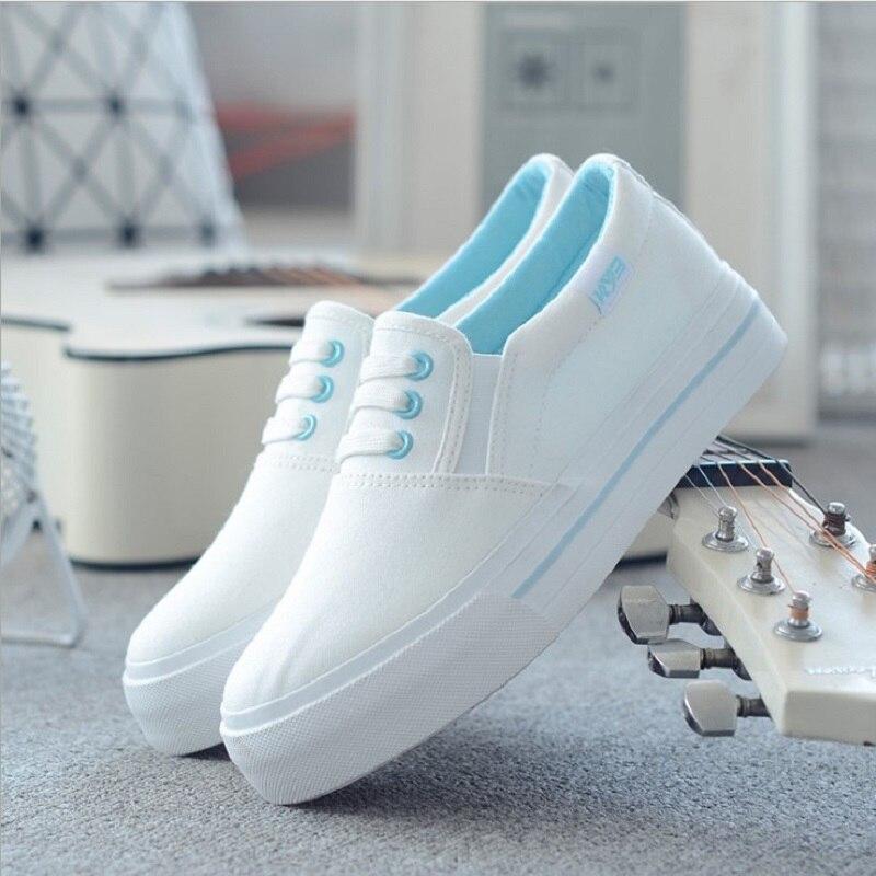 DemüTigen Frauen Turnschuhe 2019 Frau Schuhe Komfortable Sterne Schuhe Mode Frauen Casual Schuhe Solide Plattform Leinwand Schuhe Weibliche Müßiggänger Ausgezeichnet Im Kisseneffekt