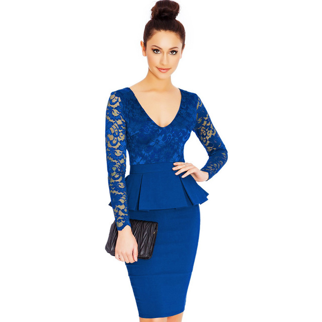 Midi jurk met lange mouw