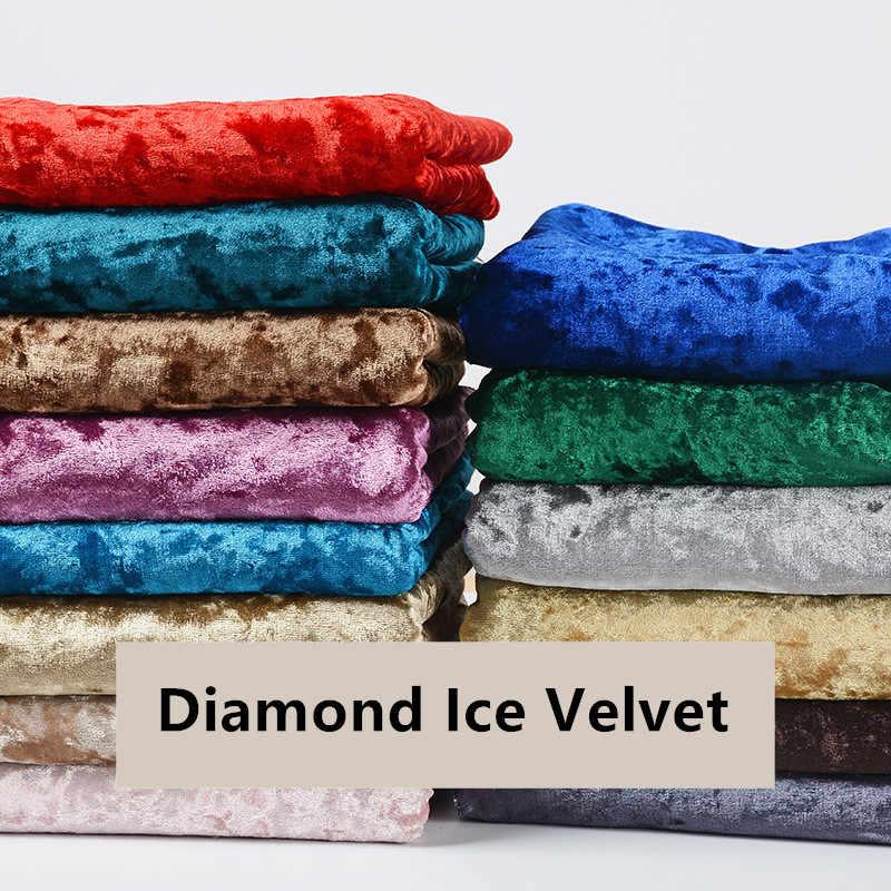 Мягкая гладкая тянущаяся бархатная ткань со стразами, роскошная флисовая ткань с флокировкой для дивана, занавески, украшения, швейная одежда, платье DIY