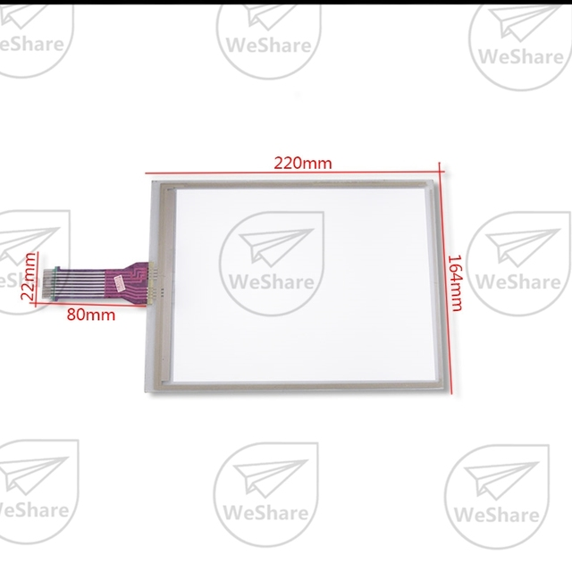 8 Wire 9.4 inch Touch Screen for Toschiba LM64183P 52006K 220*182mm Digitizer Glass Panel Free Shipping Shipping