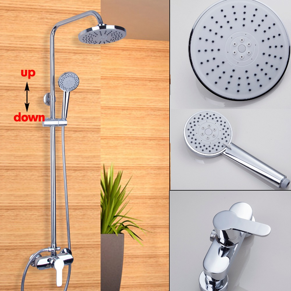 Torayvino Bath&Shower Faucet  Mixer Tap. Round Head Shower And Hand shower. Wall Mounted Shower Set. wholesale and retail wall mounted thermostatic valve mixer tap shower faucet 8 sprayer hand shower