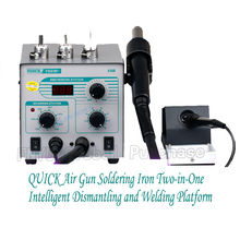 Quick 706W+ Digital Display Anti-static and Constant Temperature Lead-free Soldering Iron Dismantling and Welding Platform hot sale temperature control lead free desoldering and soldering stations bst 939d