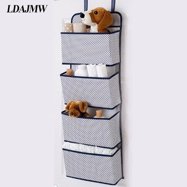 LDAJMW Multi-andares Não-tecido Saco De Armazenamento De Tecidos de Parede Porta Do Armário Pendurado Saco de Jóias de Arte Wardrobe Organizadores Brinquedo caixa de sapatos