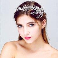 Heißer Verkauf Tiara Hochzeit Haare Kämmen Vintage Style Bridal Haarschmuck Kristall Top-qualität Handmade