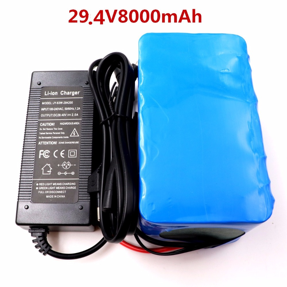 2018 24V 8Ah 18650 Battery li-ion battery 29.4v 8000mAh electric bicycle moped /electric/lithium ion battery pack+2A Charger hot sale bottom discharge electric bike 36v 8ah li ion battery 36v 8ah electric bicycle silver fish battery with charger bms