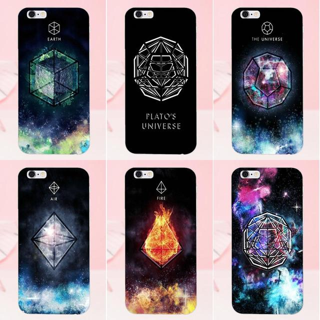 Earth Element Symbol Air Water Fire Soft Capa Cover For Apple Iphone