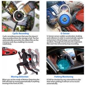 Image 3 - E ACE B28 جهاز تسجيل فيديو رقمي للسيارات داش كام 4.0 بوصة مسجل فيديو كاميرا السيارات 3 عدسة الكاميرا مع كاميرا الرؤية الخلفية المسجل داشكام DVRs