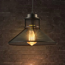 Vintage Pendant Lamp Iron Loft Nordic Retro Mesh Lampshade Bar Restaurant Lamp Industrial Led Pendant Light Cafe  Light Fixtures pendant light for restaurant 5 8 heads beanstalk dna molecules vintage pendant lamp nordic iron pendant lighting glass shades