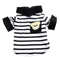 Сезон: весна–лето Собака футболку Pet полосатый топ для собак Одежда Щенок Чихуахуа жилет пальто мелких животных Костюмы