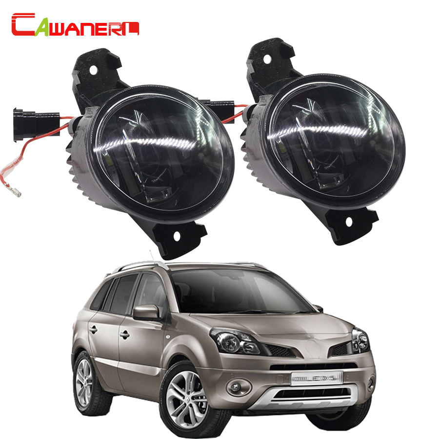цены Cawanerl 2 Pieces Car Accessories LED Fog Light DRL Daytime Running Lamp White For 2008-2015 Renault Koleos (HY_)