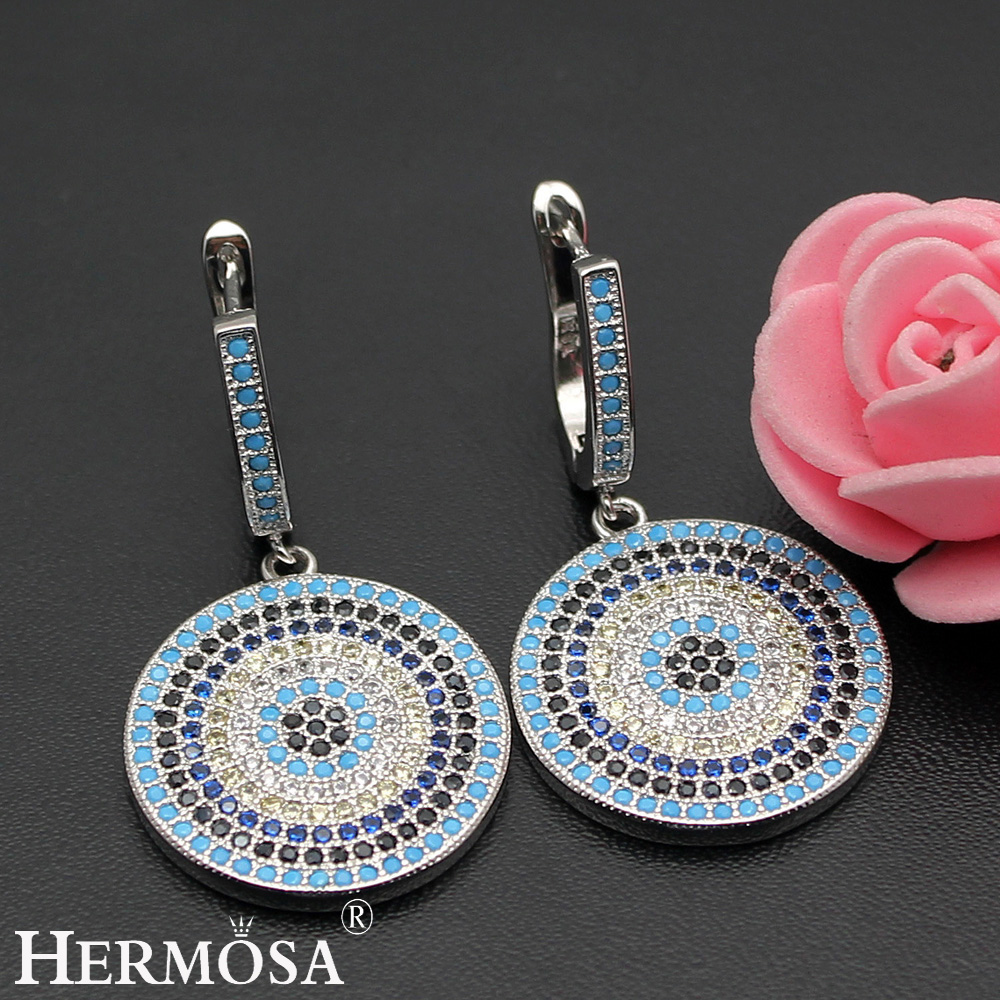 HERMOSA jewelry HOT Multi-color Round design 925 sterling silver Fashion Earring ST81 недорго, оригинальная цена