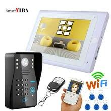 Smartyiba 7-дюймовый белый Мониторы RFID пароль Wi-Fi Беспроводной видео-телефон двери Дверные звонки Камера домофон Системы Android IOS APP